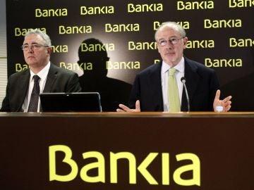El expresidente de Bankia, Rodrigo Rato con el exconsejero delegado, Francisco Verdú