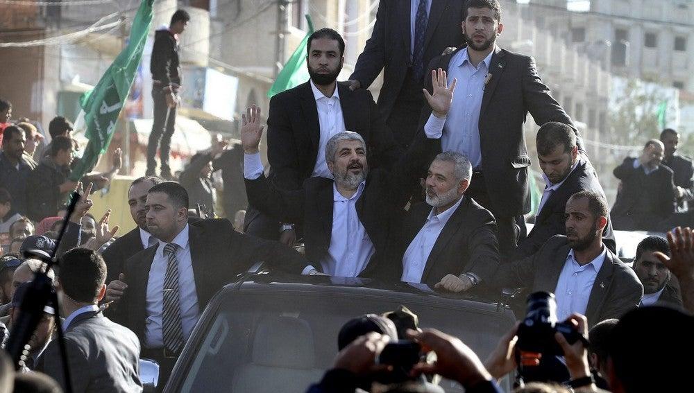 Celebración en Gaza