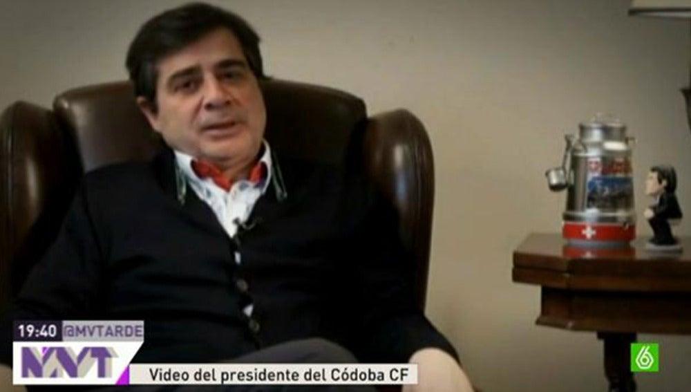 """Presidente del Córdoba CF hacia Mas: """"La Copa mola y Cataluña también"""""""