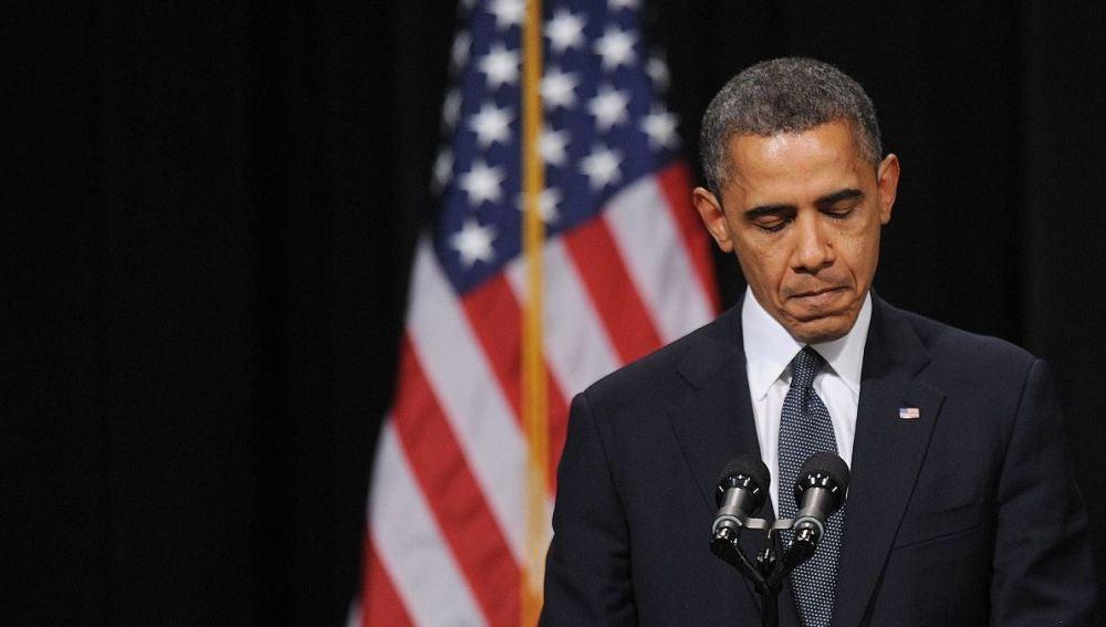 Barack Obama ante las familias de los fallecidos en Newtown