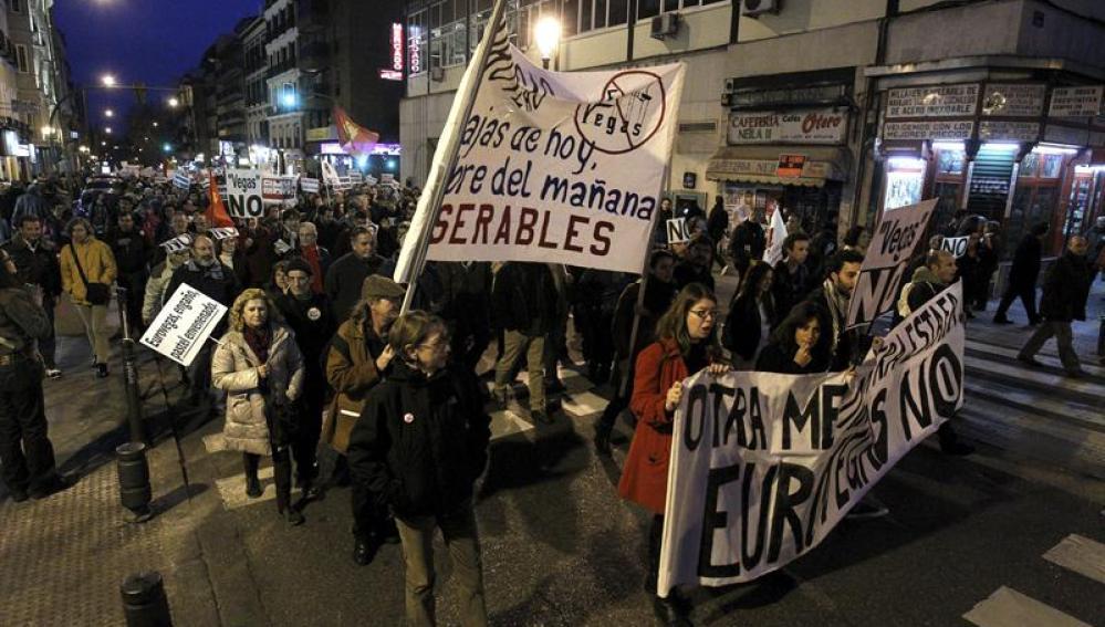 Manifestación en apoyo a la plataforma 'Eurovegas No'