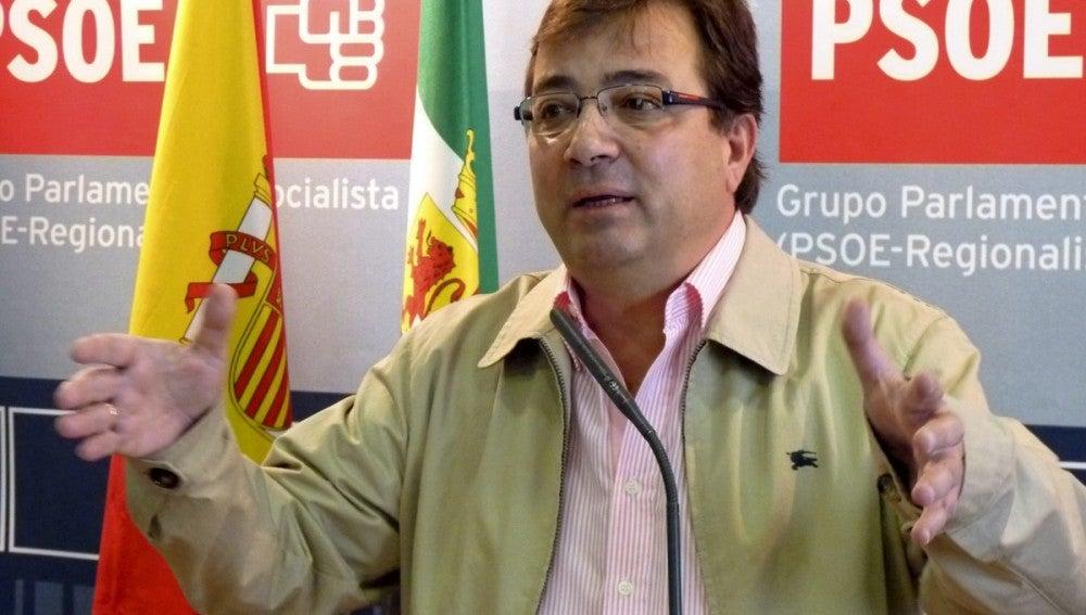 El secretario general del PSOE en Extremadura, Guillermo Fernández Vara