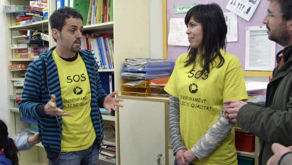 Jordi Évole, en la escuela pública 'Antaviana'