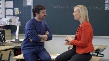Jordi Évole se traslada a Helsinki para hablar con Mari Peteri