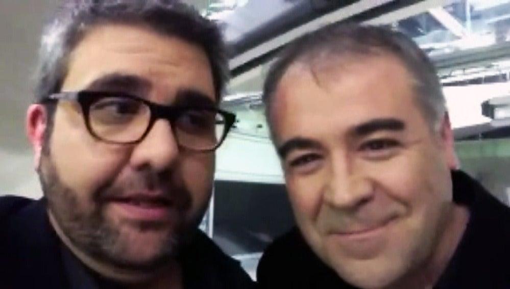 Florentino Fernández junto a García Ferreras