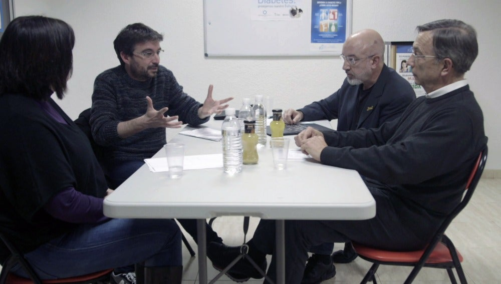 Évole, en la Asociación de Diabetes de Valencia