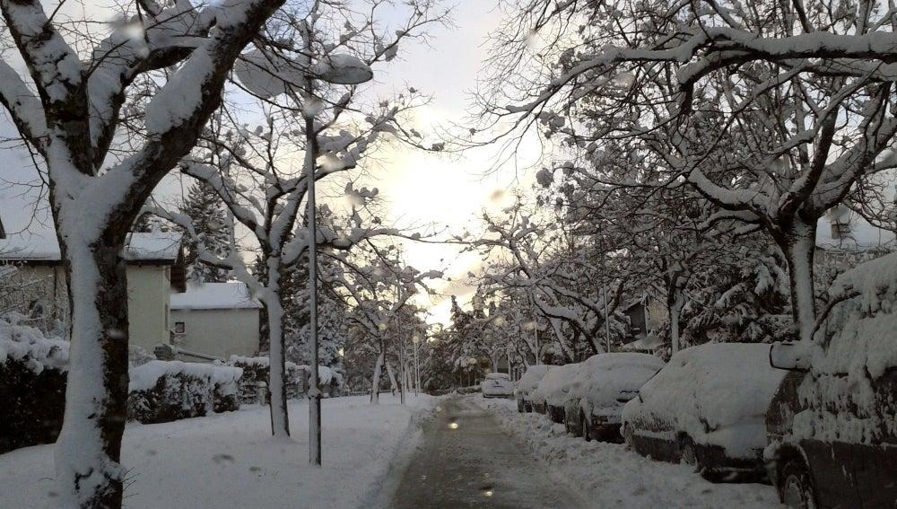 Nevada caída en la localidad oscense de Jaca