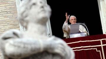 El Papa durante el rezo del Ángelus dominical