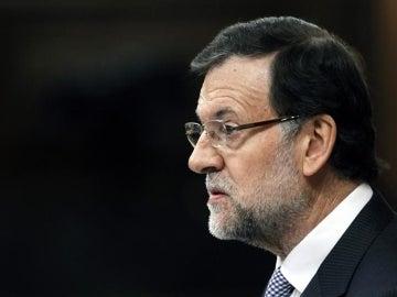 Mariano Rajoy durante su intervención en el debate sobre el estado de la Nación
