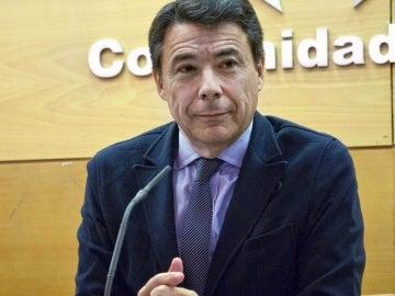 El presidente de la Comunidad de Madrid, Ignacio González, durante una rueda de prensa.