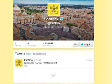 Primer tuit de Francisco I
