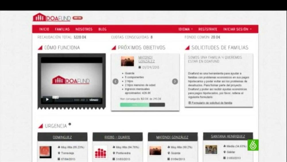 Doafund, el portal web que ayuda a los desahuciados