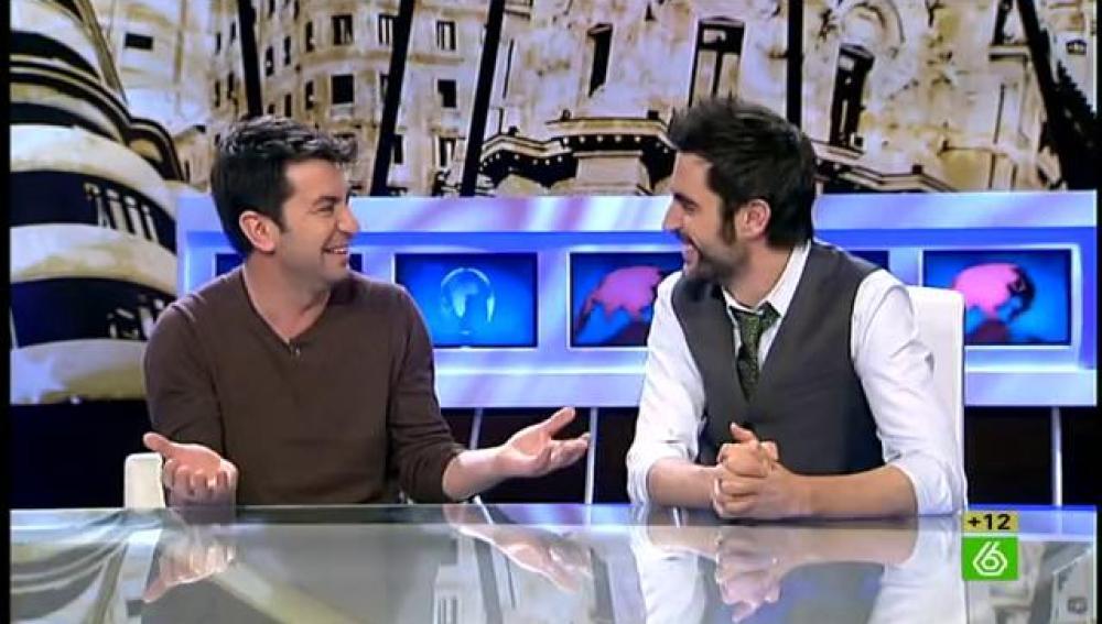 Arturo Valls con Dani Mateo