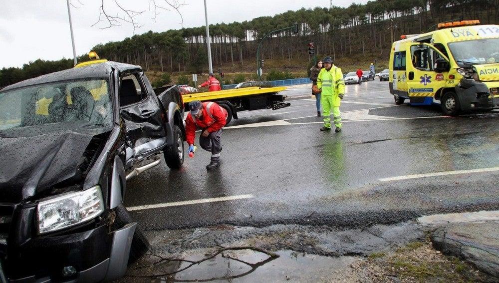 Accidente de tráfico ocurrido en el municipio navarro de Zizur Mayor