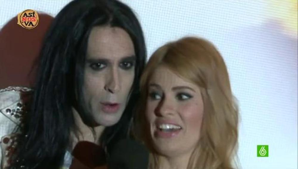 Mario Vaquerizo con Adriana Abenia