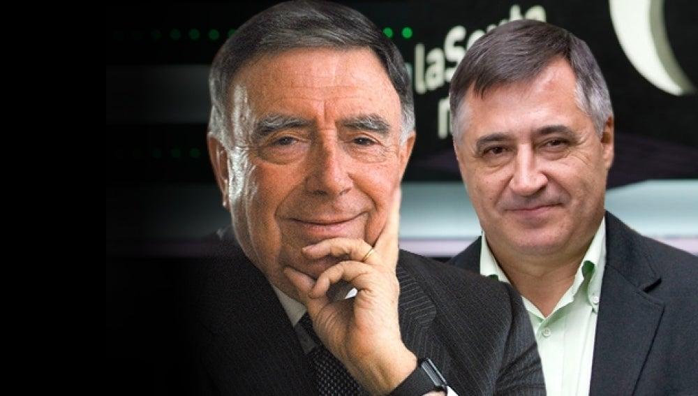 Luis María Ansón y Gervasio Sánchez en laSexta Noche