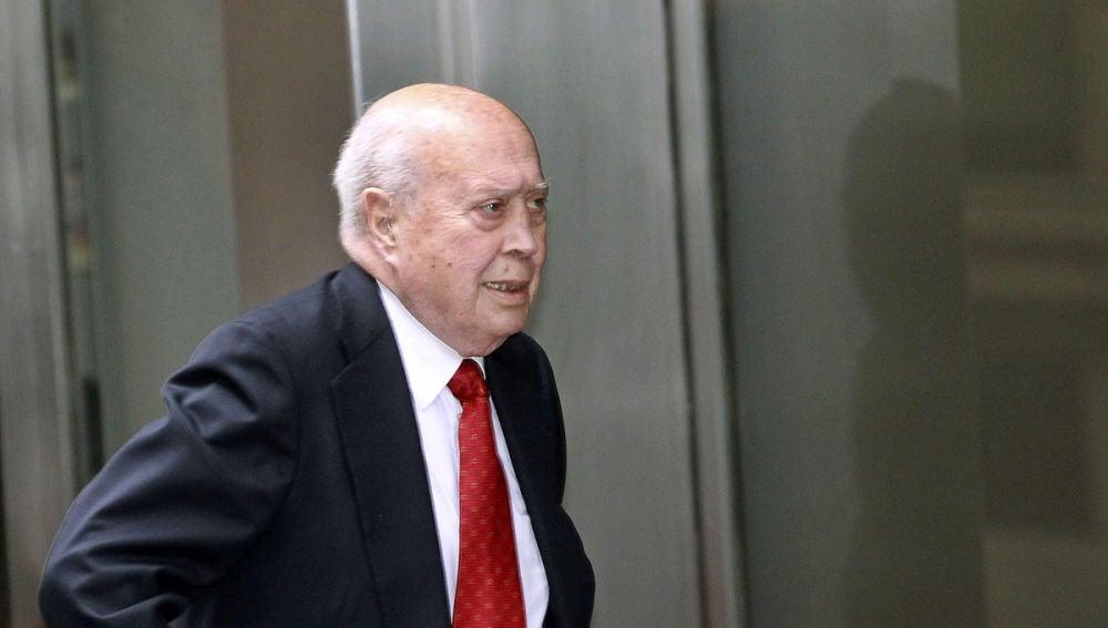 El extesorero del PP, Álvaro Lapuerta a su llegada a la Audiencia Nacional.