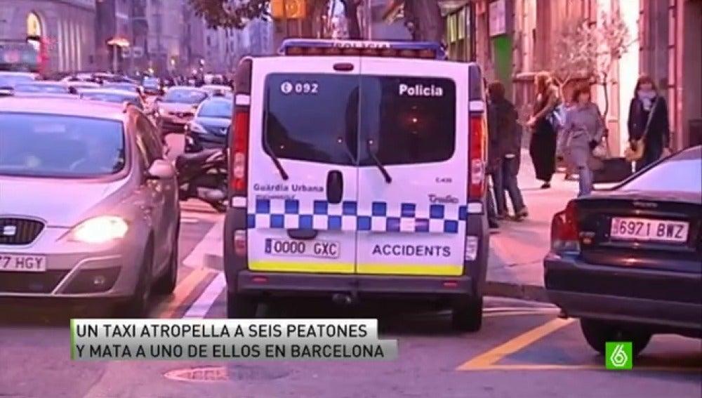 Fallece uno de los peatones que atropelló un taxi en Barcelona