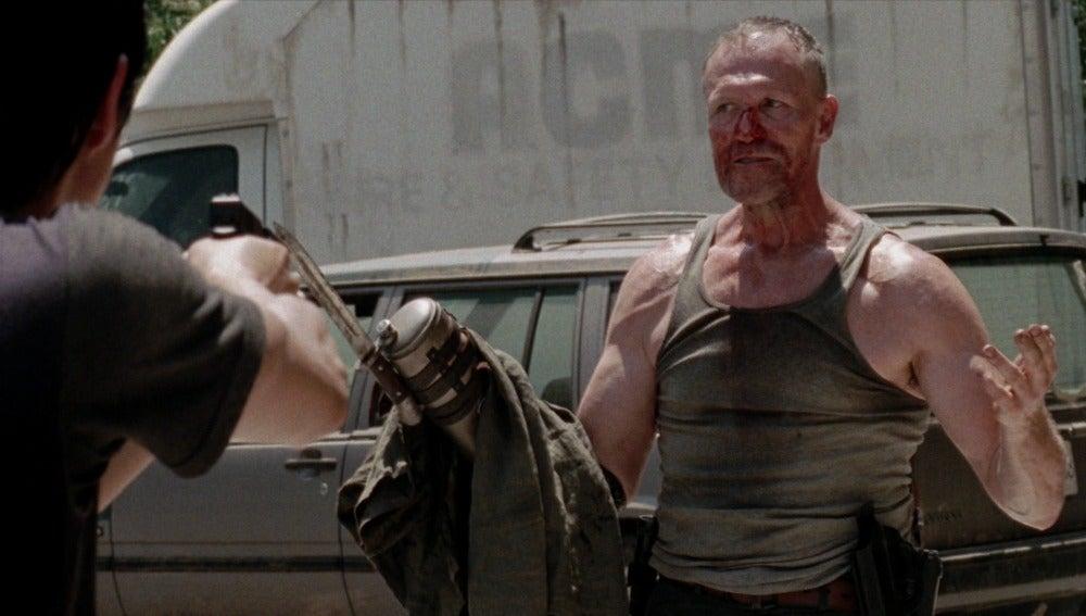 Merle Dixon encuentra a Glenn y Maggie