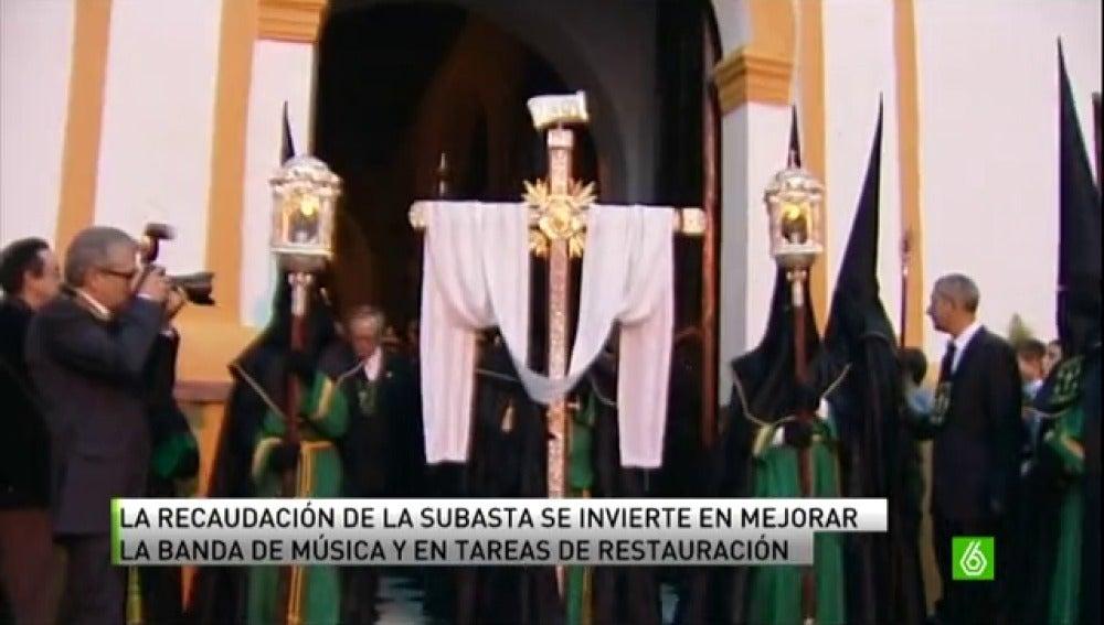 Hasta 4.200 euros por ser María Magdalena en la procesión de la Hermandad de Veracruz