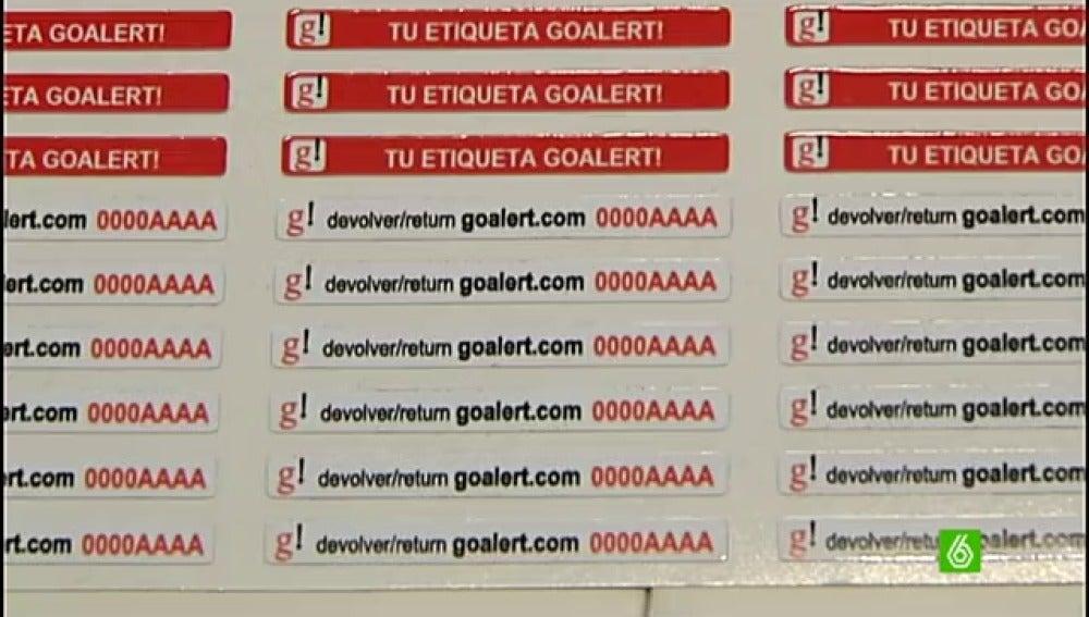La etiqueta Goalert permite recuperar el equipaje perdido sin facilitar datos personales
