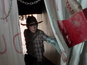 Carl en casa de Morgan