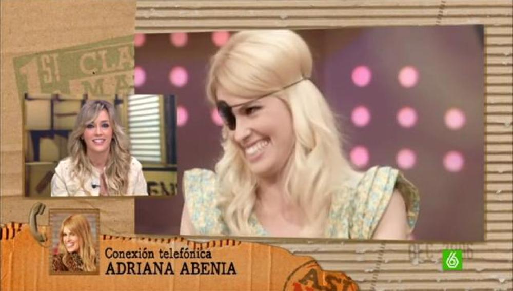 Adriana Abenia se está recuperando