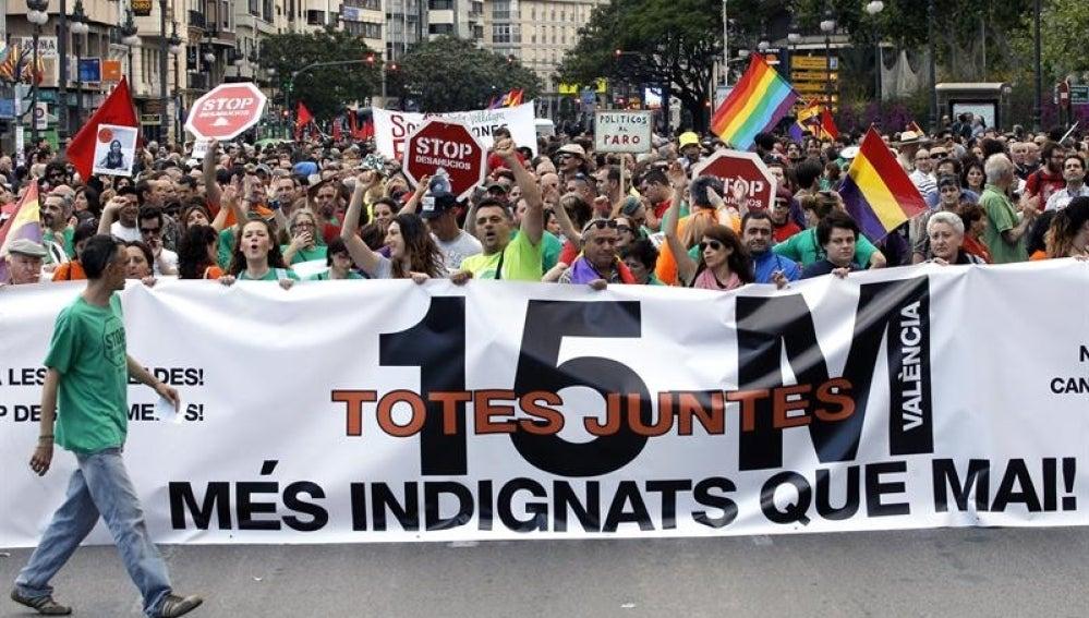 Los indignados salen a las calles de toda España contra los recortes