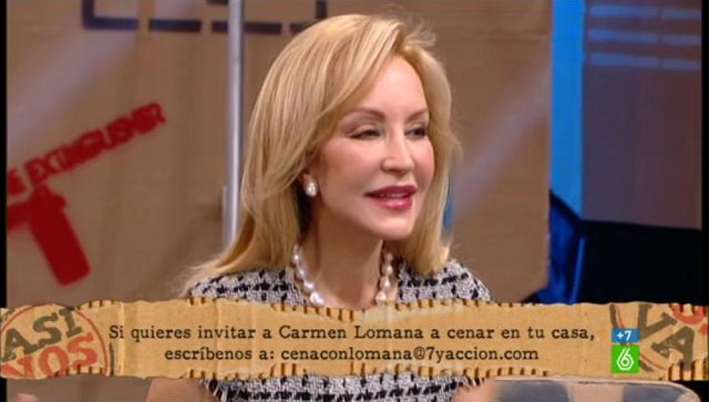 Cena con Carmen Lomana