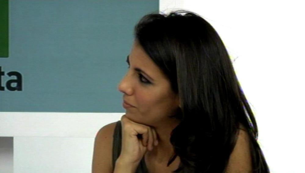 Ana Pastor durante el videoencuentro en la web de laSexta
