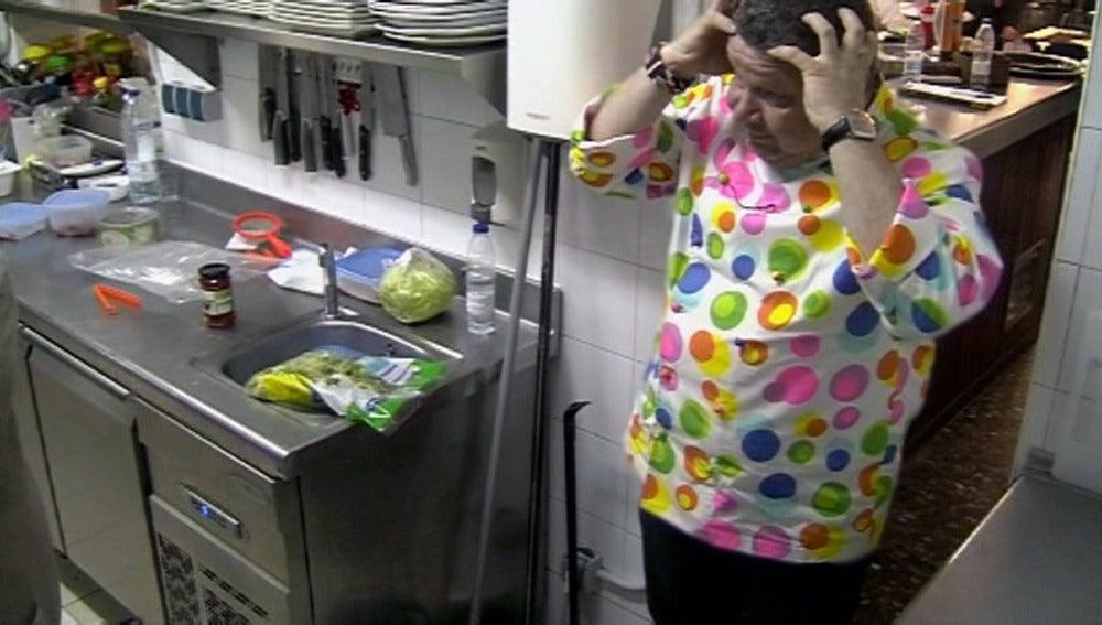 Chicote asombrado al entrar a la cocina