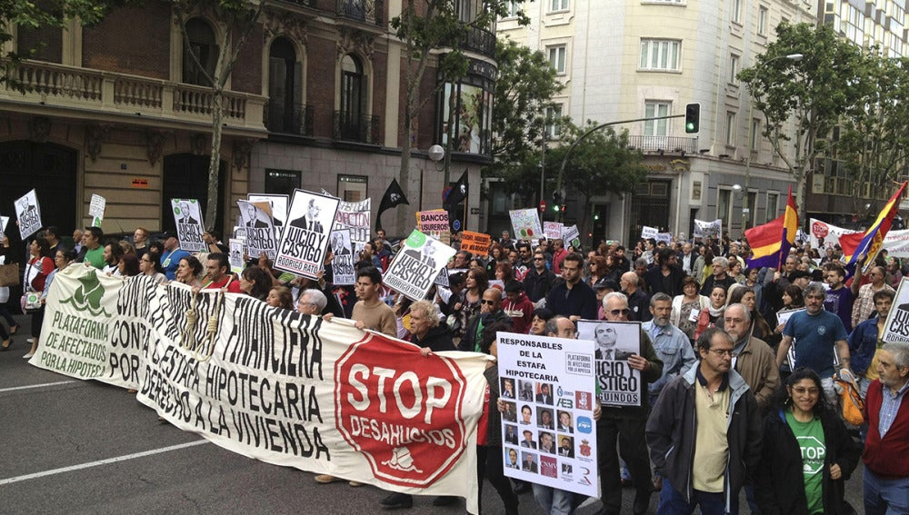 """La PAH pide 'Justicia y Castigo' para los """"culpables de la estafa hipotecaria"""""""
