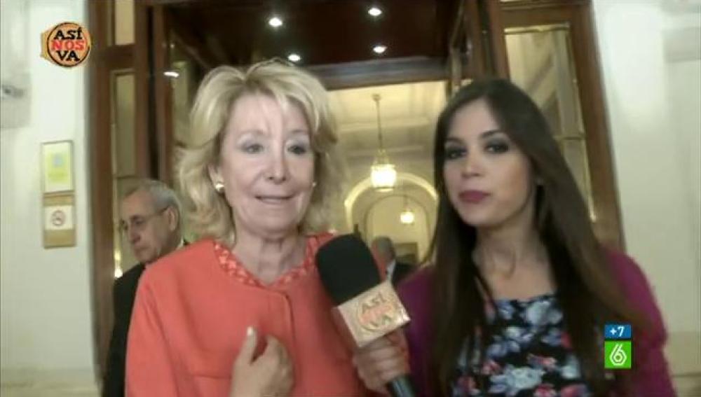 Esperanza Aguirre y Marta Márquez