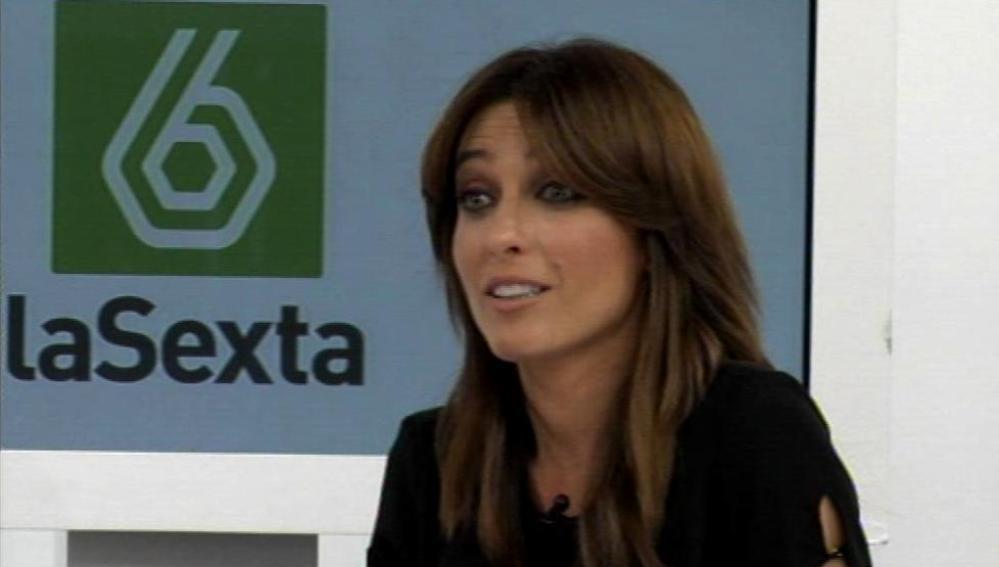 Helena Resano durante el videoencuentro en la web
