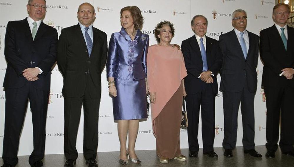 Gallardón, Wert, Doña Sofía y Teresa Berganza
