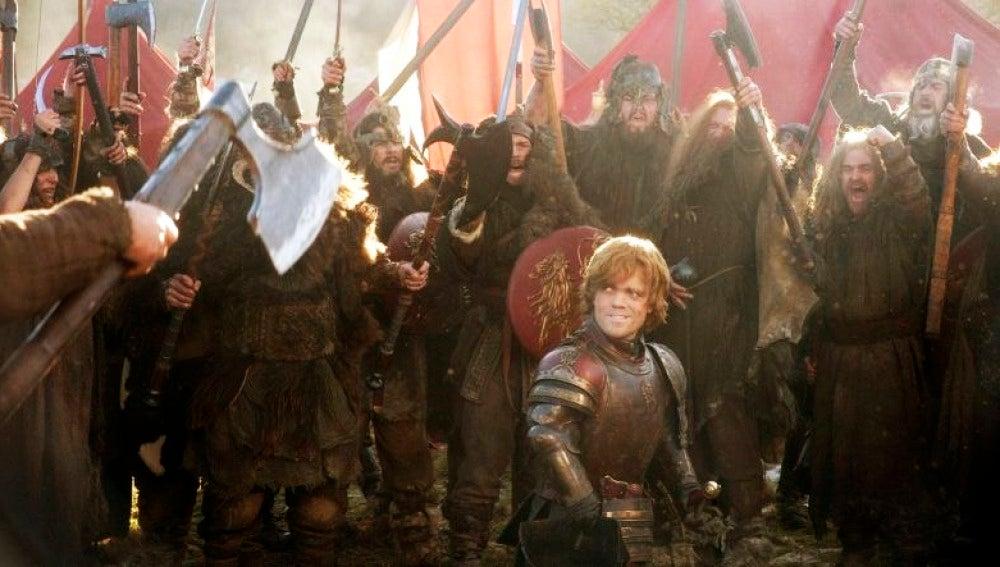 Tyrion Lannister, rodeado de su ejército