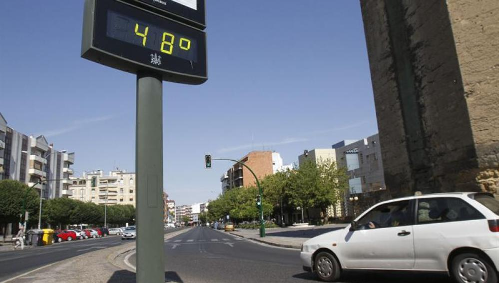 Termómetro de una calle de Córdoba.