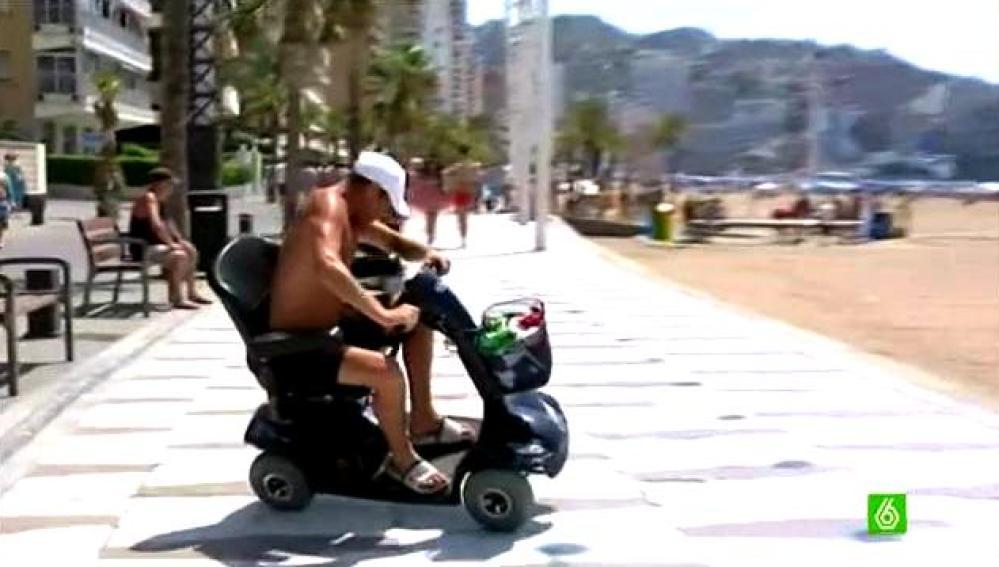 Silla motorizada en Benidorm