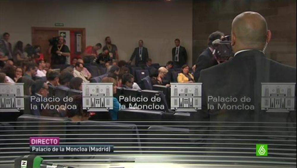 Imagen de la rueda de prensa de Mariano Rajoy.