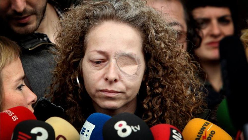 Esther Quintana comparece ante los medios