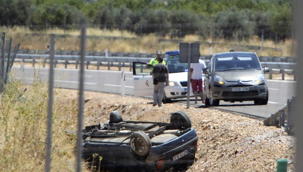 Accidente ocurrido en la autovía CM-42.