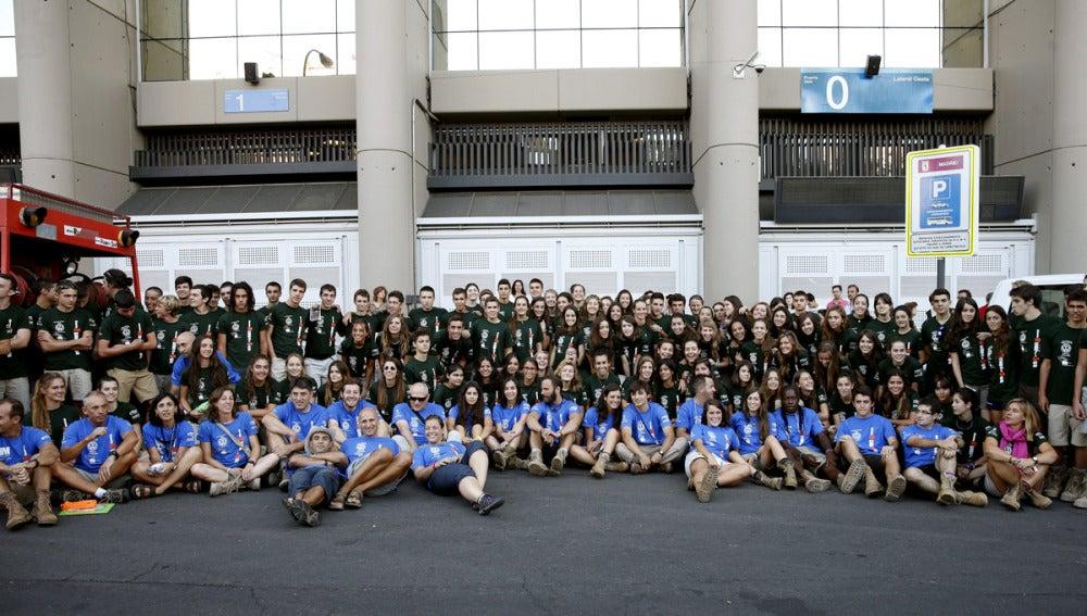 Los jóvenes que integran la octava edición de la expedición Madrid Rumbo al Sur.