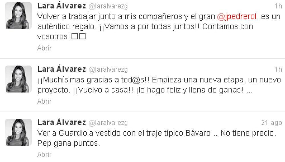 Lara Álvarez en Twitter