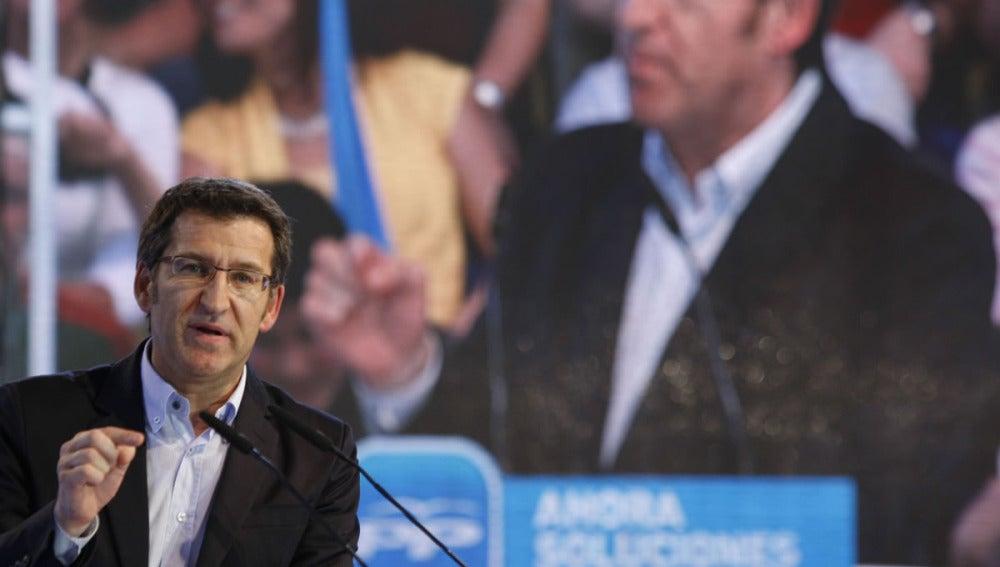 Alberto Núñez Feijóo en campaña electoral