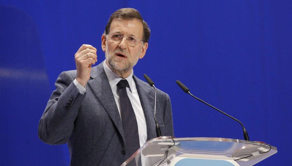 Mariano Rajoy durante un discurso público