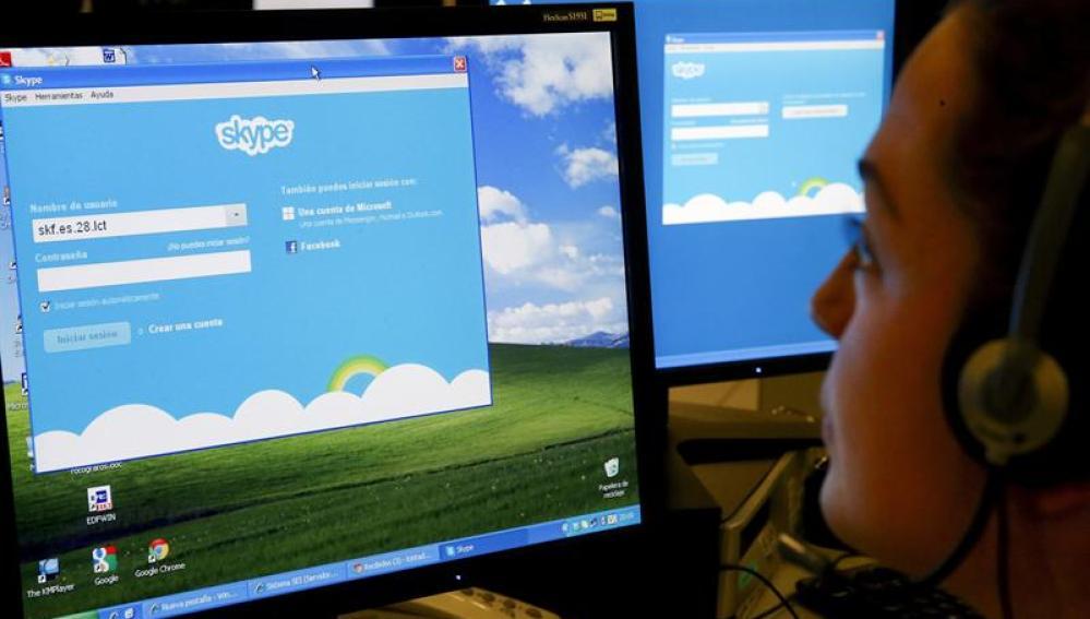 Página de inicio de Skype