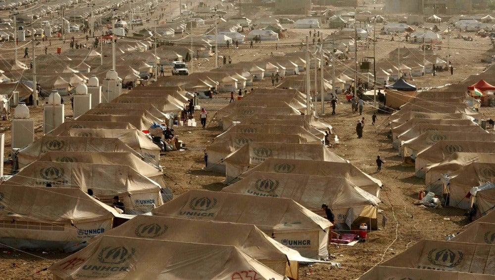 Campo de ACNUR que espera la llegada de refugiados sirios.