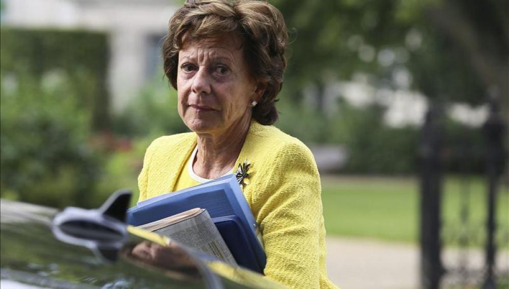 La vicepresidenta de la Comisión Europea (CE) y responsable de Agenda Digital, Neelie Kroes.