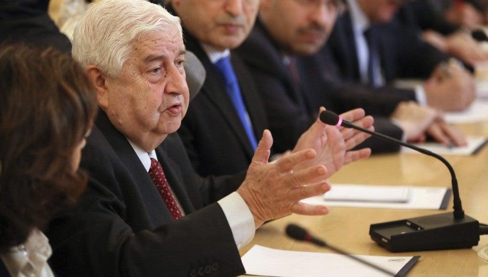 El ministro de Asuntos Exteriores sirio, Walid Muallem