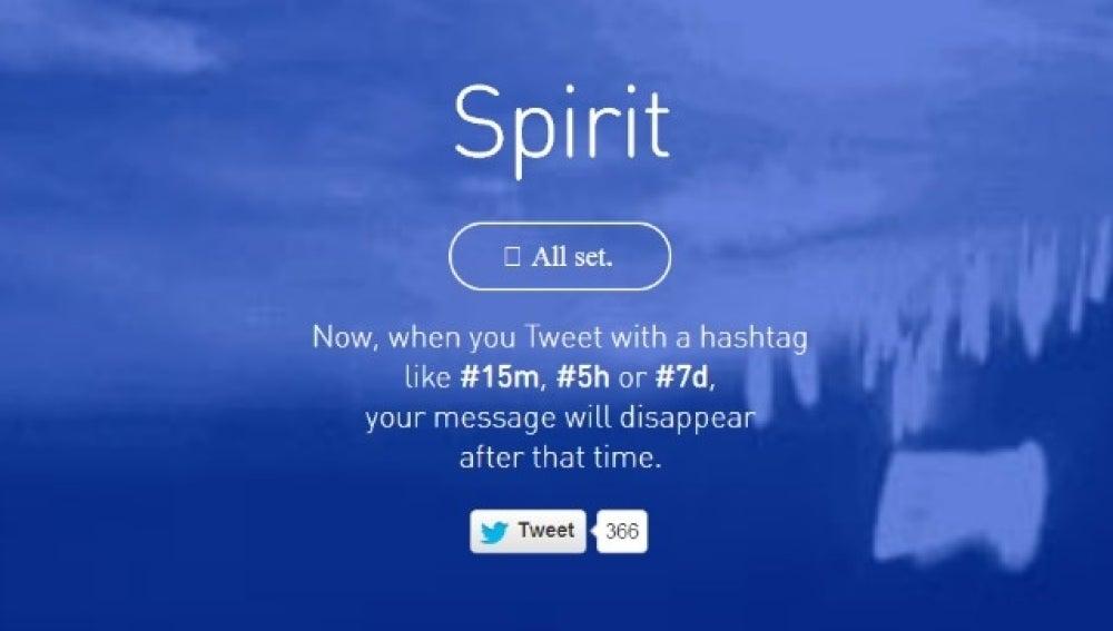 Spirit, app que permite programar tuits para su borrado